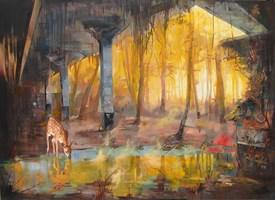 Obraz do salonu artysty Janusz Orzechowski pod tytułem Sto dziewięćdziesiąt lat później
