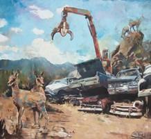 Obraz do salonu artysty Janusz Orzechowski pod tytułem Scrap-heap II
