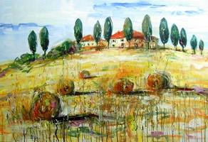 Obraz do salonu artysty Dariusz Grajek pod tytułem Toskania