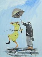 Obraz do salonu artysty Dariusz Grajek pod tytułem Pod parasolem