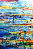 Obraz do salonu artysty Dariusz Grajek pod tytułem Kanadyjkarze