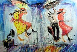 Obraz do salonu artysty Dariusz Grajek pod tytułem Silne podmuchy