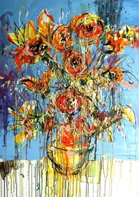 Obraz do salonu artysty Dariusz Grajek pod tytułem Słoneczniki