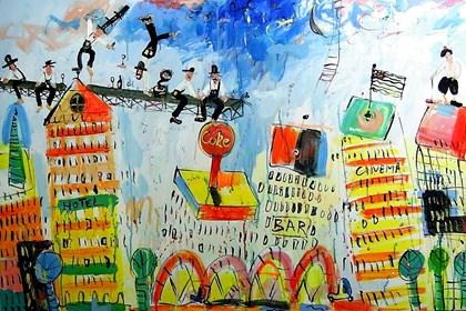 Obraz do salonu artysty Dariusz Grajek pod tytułem New York
