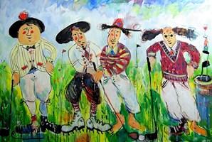 Obraz do salonu artysty Dariusz Grajek pod tytułem Golfiści