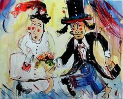 Obraz do salonu artysty Dariusz  Grajek pod tytułem Portret ślubny