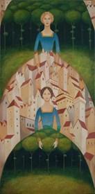 Obraz do salonu artysty Malwina de Brade pod tytułem Na skraju Miasta