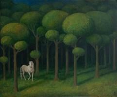 Obraz do salonu artysty Malwina de Brade pod tytułem Święty Gaj