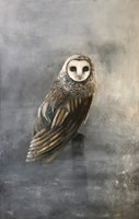 Living room painting by Klaudia Choma titled Barn Owl