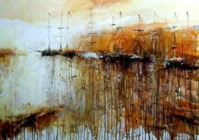 Obraz do salonu artysty Dariusz Grajek pod tytułem Spokojna zatoczka