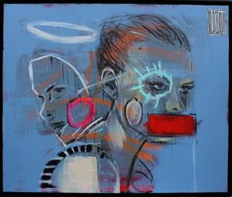 Obraz do salonu artysty Wojciech Brewka pod tytułem Coexist