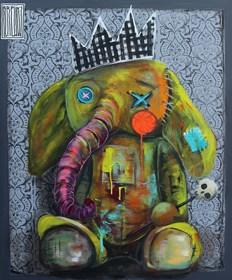 Obraz do salonu artysty Wojciech Brewka pod tytułem King of the jungle