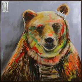 Obraz do salonu artysty Wojciech Brewka pod tytułem Nie mów do mnie misiu