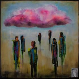 Obraz do salonu artysty Wojciech Brewka pod tytułem Pink cloud