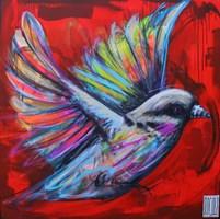 Living room painting by Wojciech Brewka titled Freedom 1