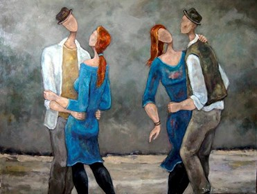 Obraz do salonu artysty Henryk Trojan pod tytułem Nocne tańce