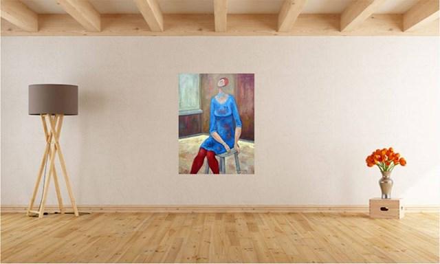 Dziewczyna w czerwonych rajtuzach - wizualizacja pracy autora Henryk Trojan