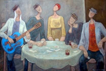 Obraz do salonu artysty Henryk Trojan pod tytułem Los hombres libres