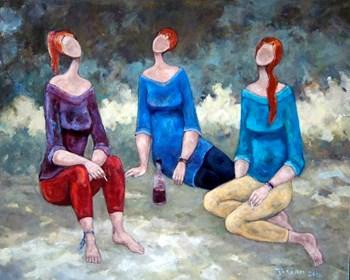 Obraz do salonu artysty Henryk Trojan pod tytułem Niedobre dziewczyny