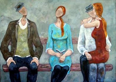 Obraz do salonu artysty Henryk Trojan pod tytułem Przystanek