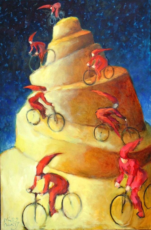 Obraz do salonu artysty Miro Biały pod tytułem 26 zjazd z Jasnej Góry