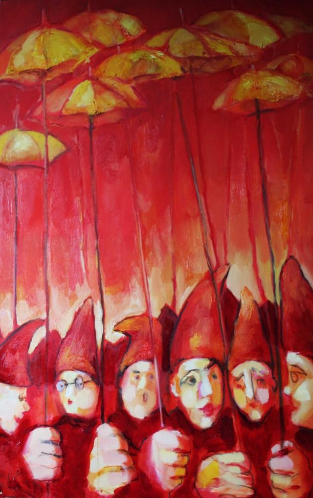Obraz do salonu artysty Miro Biały pod tytułem Szesciu Wspaniałych