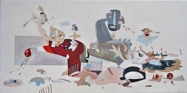 Obraz do salonu artysty Filip Gruszczyński pod tytułem Kaskaderzy