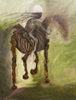 Obraz do salonu artysty Tomasz Staszewski pod tytułem Czasem konno