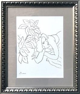 Grafika do salonu artysty Henri Matisse pod tytułem Bez tytułu