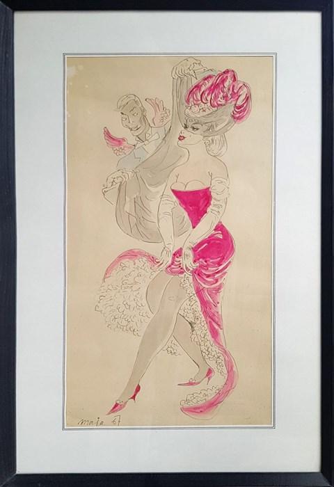 Obraz do salonu artysty Maja Berezowska pod tytułem Projekt kostiumu z Teatru Komedia
