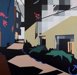 Obraz do salonu artysty Jakub Napieraj pod tytułem EGZOTYCZNY ORANŻ
