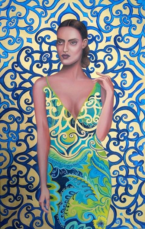 Obraz do salonu artysty Katarzyna Jaczun-Łydzińska pod tytułem KWIAT PAPROCI