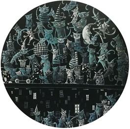 Obraz do salonu artysty Magdalena Rytel-Skorek pod tytułem IMPREZA NA DACHU