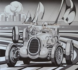 Obraz do salonu artysty Tomasz Kostecki pod tytułem GRAND PRIX