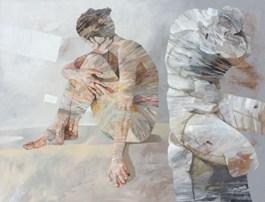 Obraz do salonu artysty Adam Wątor pod tytułem KOBIETA I MĘŻCZYZNA