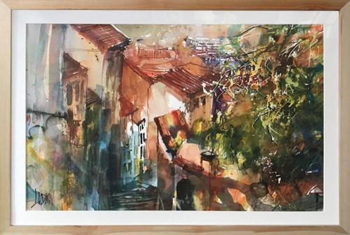 Living room painting by Krzysztof Ludwin titled BELLAGIO