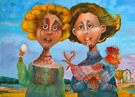 Obraz do salonu artysty Anna Oleszkiewicz pod tytułem SIOSTRY