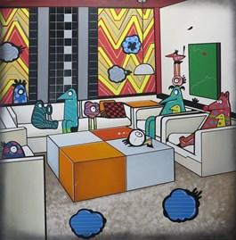 Obraz do salonu artysty Marcin Błach pod tytułem NA KWADRACIE