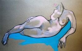Obraz do salonu artysty Aleksandra Wiszniewska pod tytułem MNIEJ, WIĘCEJ