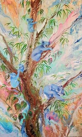 Obraz do salonu artysty Patrycja Kruszynska-Mikulska pod tytułem KOALA FAMILY