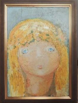 Obraz do salonu artysty Jolanta Caban pod tytułem DZIEWCZYNKA-RUSAŁKA