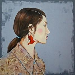 Obraz do salonu artysty Renata Magda pod tytułem OCZEKIWANIE