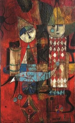 Obraz do salonu artysty Inez White pod tytułem CZERWONY TEATR