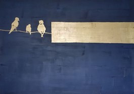 Obraz do salonu artysty Angelika Jaglińska pod tytułem GOLD BIRDS