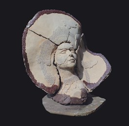 Obraz do salonu artysty Jacek Opała pod tytułem Dziewczyna z pióropuszem II