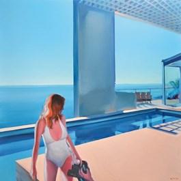 Obraz do salonu artysty Rafał Knop pod tytułem Madame Ginger