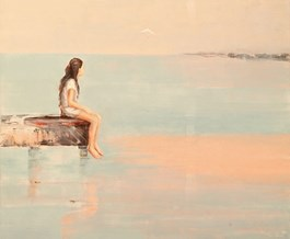 Obraz do salonu artysty Ilona Herc pod tytułem Pytania Wery (z cyklu Pytania)