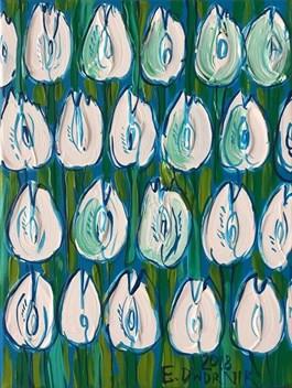 Obraz do salonu artysty Edward Dwurnik pod tytułem Białe tulipany