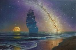 Obraz do salonu artysty Marek Rużyk pod tytułem Na gwiezdnym szlaku