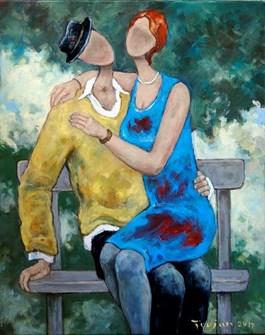 Obraz do salonu artysty Henryk Trojan pod tytułem Historia miłosna